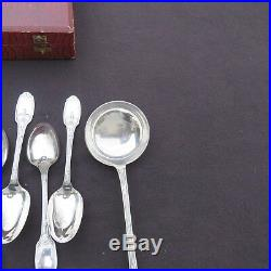 CHRISTOFLE ménagère de 37 couverts en métal argenté modèle delafosse
