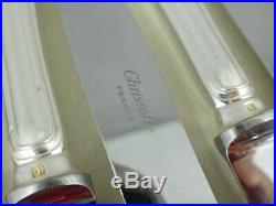 CHRISTOFLE modèle SPATOURS 12 couteaux à entremet / dessert knives métal argenté