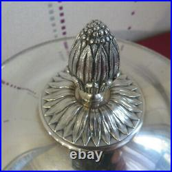 CHRISTOFLE soupière légumier en métal argenté modèle Malmaison