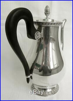CHRISTOFLE verseuse, cafetière en métal argenté, modèle MALMAISON