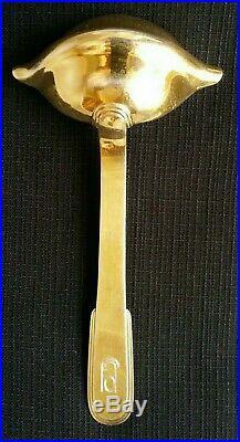 CUILLERE A SAUCE GRAS/MAIGRE métal argenté doré CHRISTOFLE modèle Laos art déco
