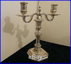 Chandelier Christofle en métal argenté modèle Louis Dupérier, rare / candelabra