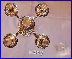 Chandelier/candélabre 5 branches modèle Albi en métal argenté signé Christofle