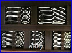 Christofle Importante Menagere 157 Pieces Modele Marly Metal Argente Tbe