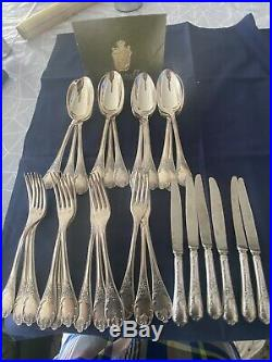 Christofle Model Marly 12 Fourchette, 12 Cuillères, 6 Petit Couteaux