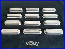 @@@ Christofle Modele Albi 12 Porte Couteaux Metal Argente Tres Bon Etat @@@