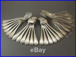 Christofle Modele Malmaison Grands Couverts Style Empire 24 Pcs Metal Argente