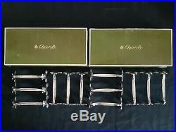 @@@ Christofle Modele Marly 12 Porte Couteaux Metal Argente Ecrin Parfait Etat