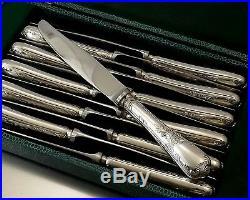 Christofle Modele Marly Couteaux A Entremet 12 Pieces Metal Argente Et Inox 1960