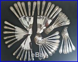 Christofle Modele Marly Menagere 48 Pieces Metal Argente Parfait Etat 4284
