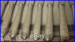 Christofle Modele Villeroy 16 Couteaux De Table En Metal Argente