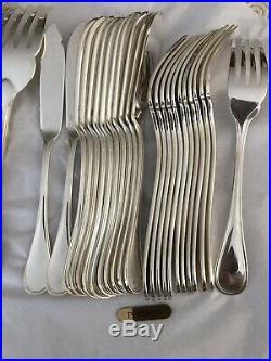 Christofle Service à poisson (26 pièces) Métal argenté. Modèle ALBI