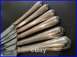 Christofle a Paris 12 grands couteaux de table model au Filet spatours lame inox