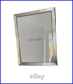 Christofle cadre à photos en métal argente modèle filets neuf dans son emballage