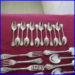 Christofle ménagère 37 couverts en métal argenté modèle marly 2