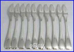 Christofle modèle América, 10 fourchettes à escargots/crustacés, excellent état