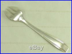 Christofle modèle Art Déco, 10 rares fourchettes à huitres, métal argenté