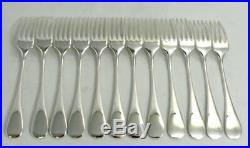 Christofle modèle Baguette/Fidélio, 12 fourchettes à entremets/dessert, 18,5 cm