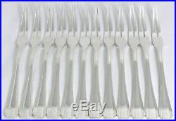 Christofle modèle Boréal, 12 fourchettes à escargot/crustacé/coquillage