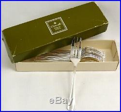 Christofle modèle Boréal, 12 fourchettes à gâteaux, excellent état, boite