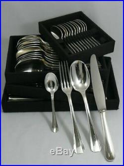 Christofle modèle Boréal, ménagère de 48 pièces avec couteaux, excellent état