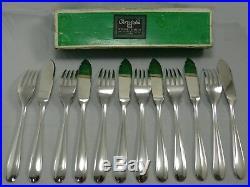 Christofle modèle Dax, 6 couverts à poisson, 12 pièces, état neuf, avec boite