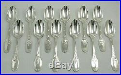 Christofle modèle Delafosse 12 cuillères entremets/dessert excellent état 18,8cm