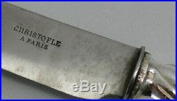 Christofle modèle Gramont, Art Nouveau, 9 couteaux de table, métal argenté