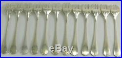 Christofle modèle Japonais, 12 fourchettes à huitres, excellent état, écrin
