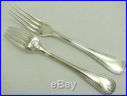 Christofle modèle Malmaison, 10 fourchettes de table, Table Forks, métal argenté