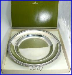 Christofle modèle Malmaison grand plat rond 35,4 cm excellent état métal argenté