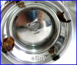 Christofle modèle Malmaison, service thé/café 5 pièces, plateau, métal argenté