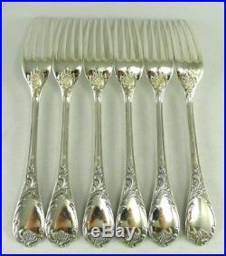Christofle modèle Marly, 6 fourchettes de table, excellent état, métal argenté