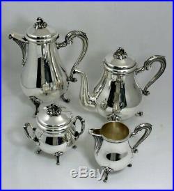 Christofle modèle Marly/Pompadour, service à thé/café 4 pièces, parfait état