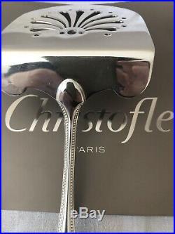 Christofle modèle PERLE, rare PELLE A ASPERGE Métal argenté. TBE