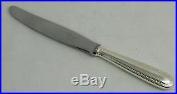 Christofle modèle Perles 12 couteaux de table métal argenté excellent état écrin