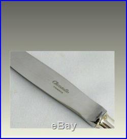 Christofle modèle Perles, 6 couteaux de table, excellent état, proches du neuf