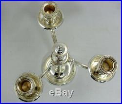 Christofle modèle Perles, bougeoir/chandelier/candélabre, 3 feux excellent état