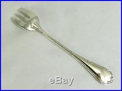 Christofle modèle Rubans, 10 fourchettes à huîtres, excellent état métal argenté