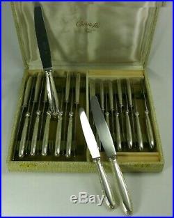 Christofle modèle Rubans écrin 24 couteaux 12 de table + 12 à fromage/dessert