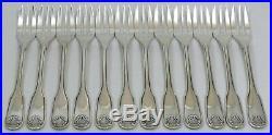 Christofle modèle Vendôme/Arcantia, 12 fourchettes gâteaux excellent état, écrin