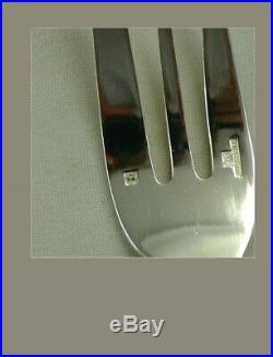 Christofle modèle à filet simple XIXe, 12 fourchettes à gâteaux, excellent état