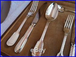 Coffret ensemble individuel Christofle modèle Chinon en métal argenté