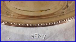 Corbeille pain fruits métal argenté modèle perles