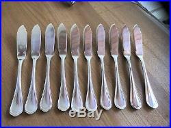 Couverts à Poisson CHRISTOFLE Modèle SPATOURS Métal Argenté Couteaux Fourchettes