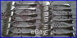 Couverts à poisson en métal argenté modèle Baguette