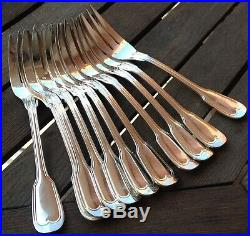 Couverts à poisson métal argenté modèle filet (23 pièces)