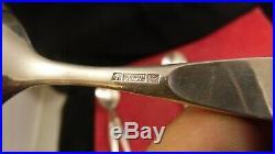 Couverts à salade ou à servir en métal argenté Christofle modèle Duo