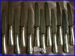 ERCUIS 12 Couteaux de table métal argenté & lames inox Modèle à filets SULLY