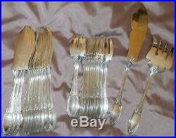 ERCUIS Ménagère / Service à poisson en métal argenté 26 pièces Modèle Empire